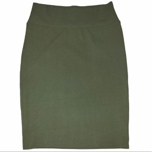 LuLaRoe Cassie Pencil Midi Skirt Green Large